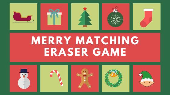 Merry Matching Eraser Game