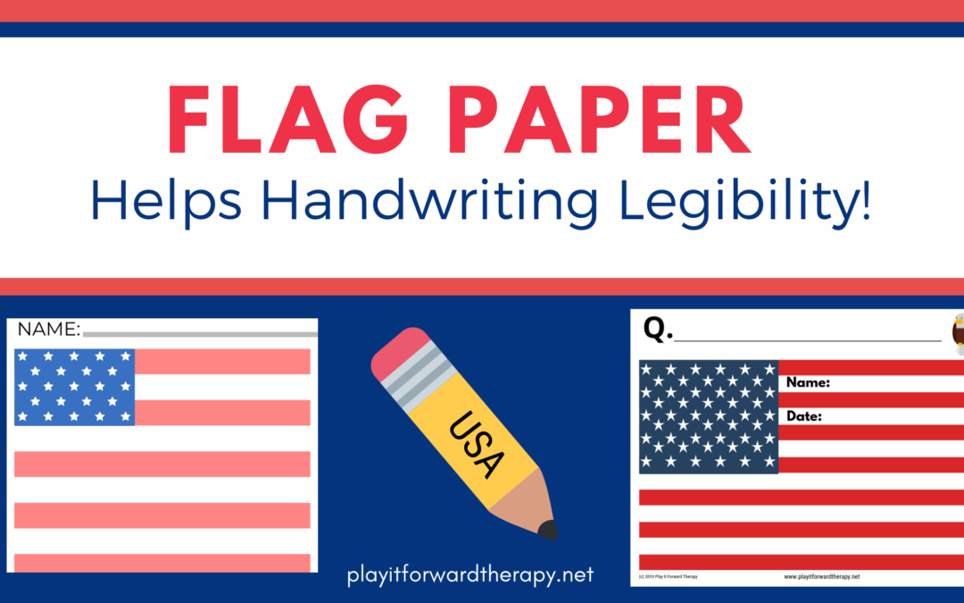 Need handwriting practice? FREE Flag Paper and Writing Prompts